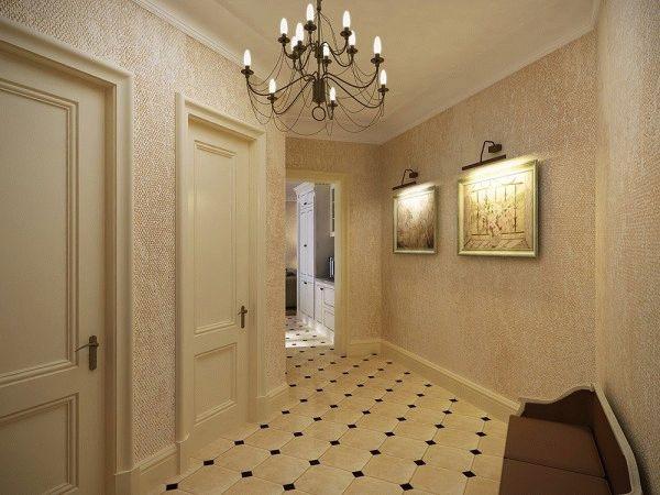 Стеклообои идеально подходят для оклейки стен в прихожей