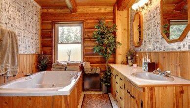 Отделка ванной в деревянном доме