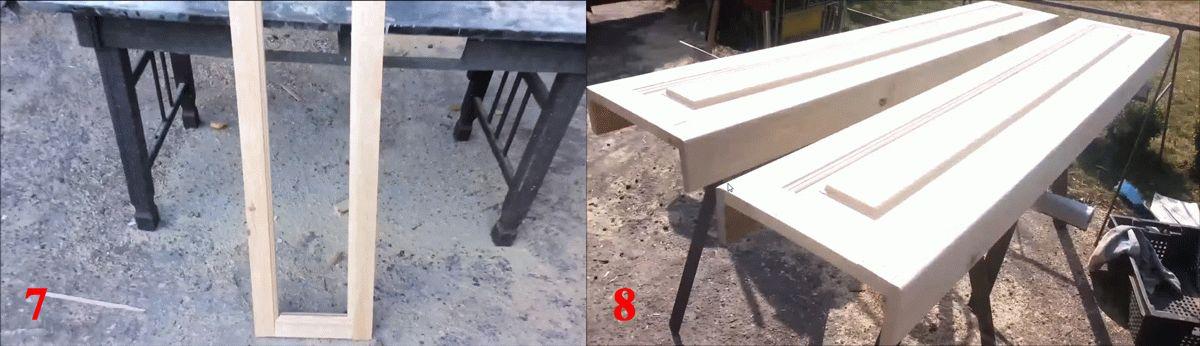 Изготовление боковых стоек