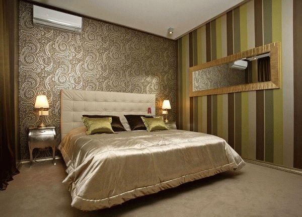 Правильное комбинирование обоев придаст спальне неповторимый вид, а большую спальную комнату сделает более уютной