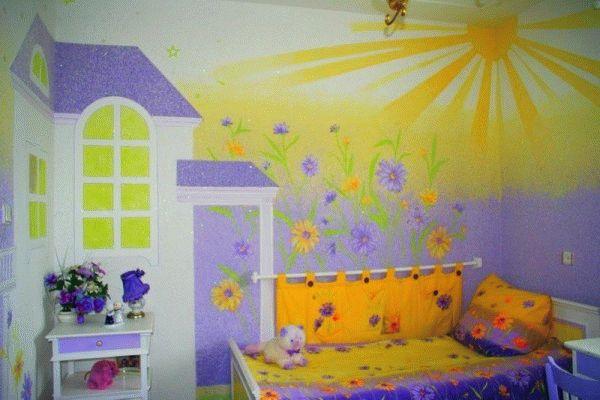 Картины из жидких обоев - это лучшее решение для детской комнаты
