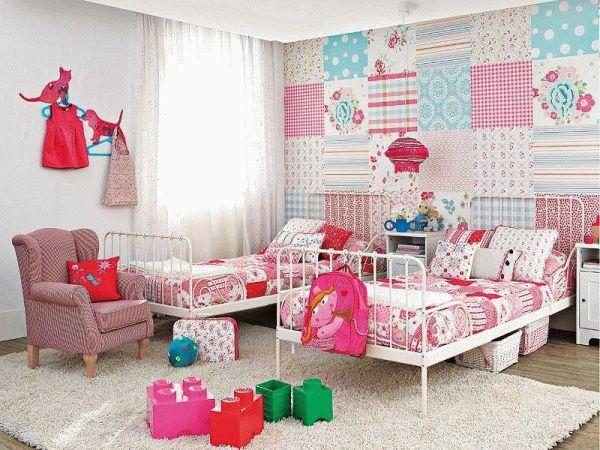 Лоскутное комбинирование обоев - идеальный вариант для детских комнат