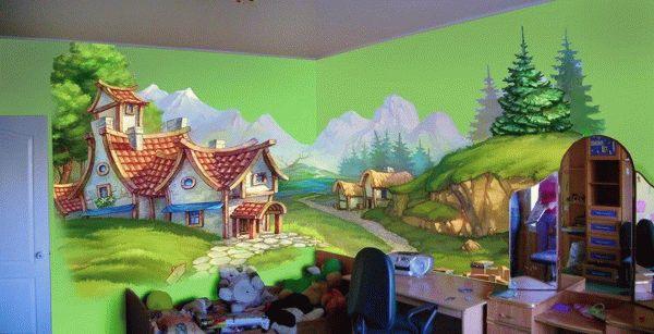 Нанесение рисунка на стену - это очень кропотливая работа, которую нужно выполнять размеренно и аккуратно
