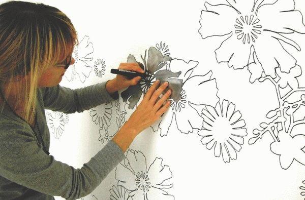 Рисовать под трафарет может каждый, для этого не обязательно обладать художественными способностями