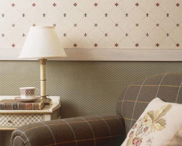 Горизонтальное деление стен - отличное решение для помещений с высокими потолками
