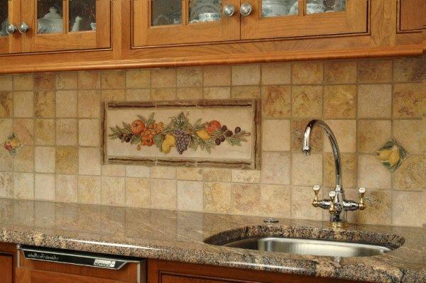 Стандартный размер плитки на кухонный фартук - 10х10 см