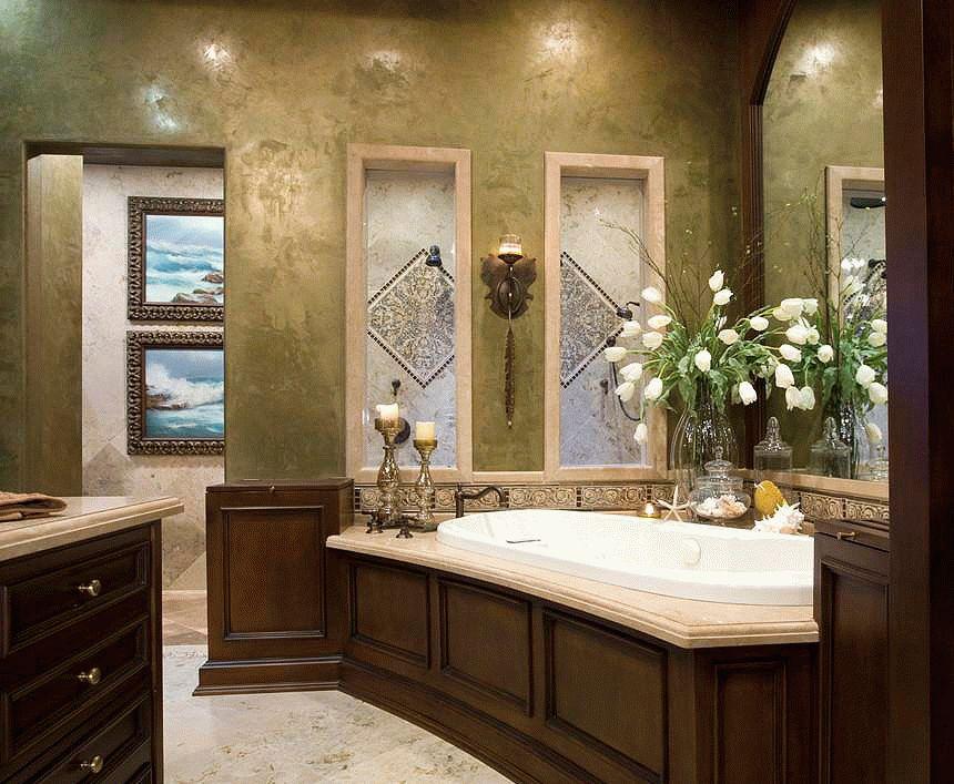Венецианская штукатурка в ванной