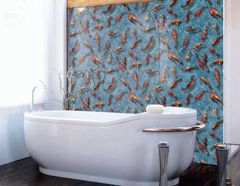 Чем отделать стены в ванной, кроме плитки: альтернатива керамике