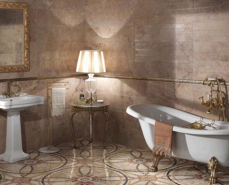Керамогранит в ванной комнате - это отделка на многие года
