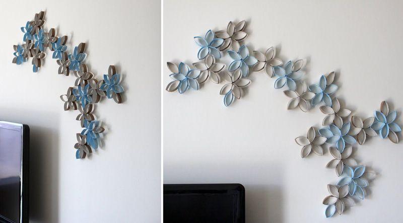 Существует множество разнообразных способов украсить стены своими руками