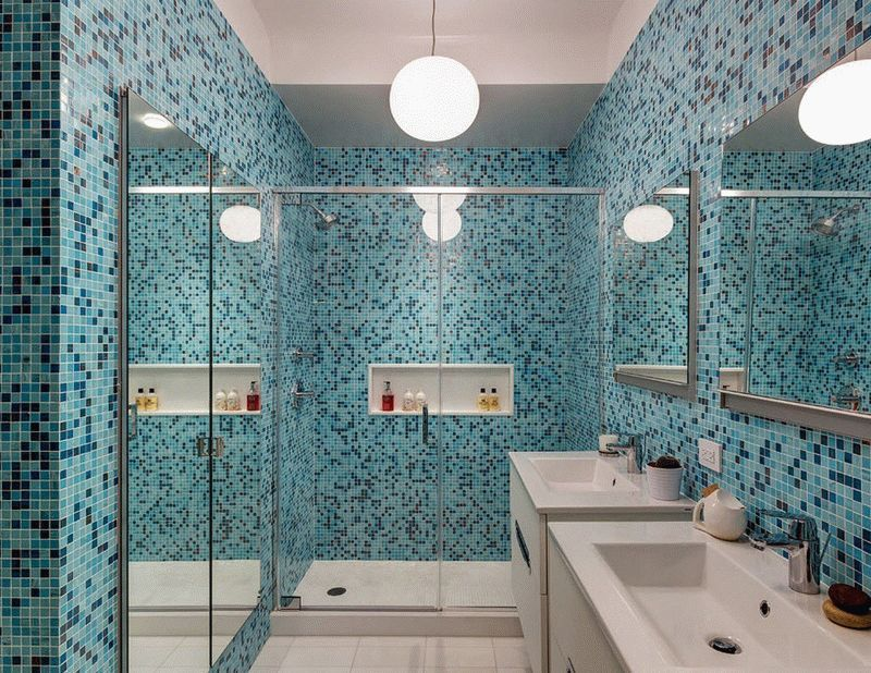 Ванная в синих оттенках