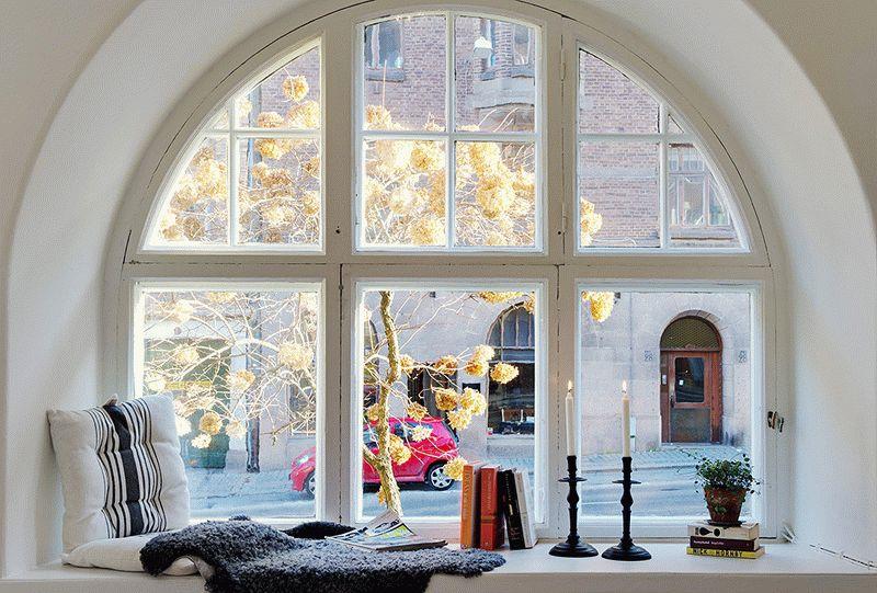 Классическая арка над окном
