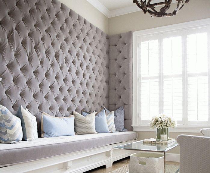 Ткань на стенах вместо обоев