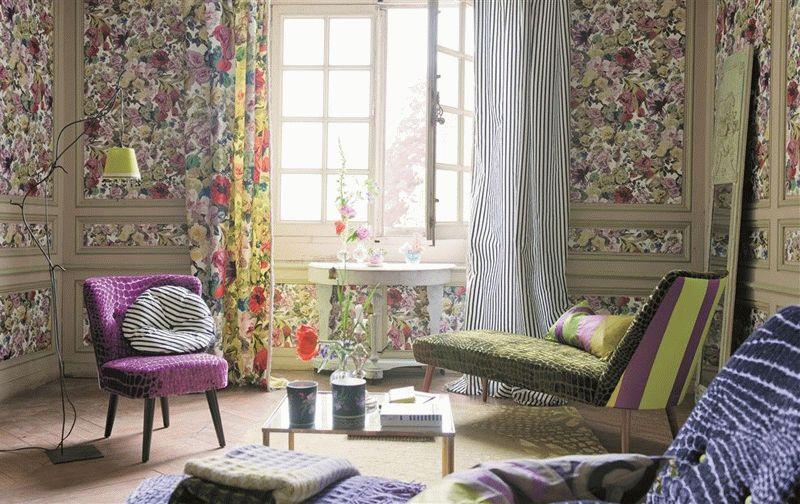Текстильная отделка стен