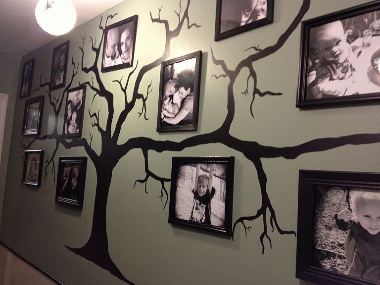 Украсить стену с пользой поможет семейное дерево