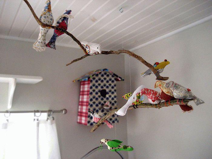 Декор с веток дерева