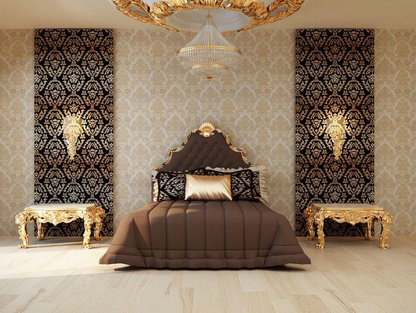 Декорирование стен обоями может заключаться в их комбинировании