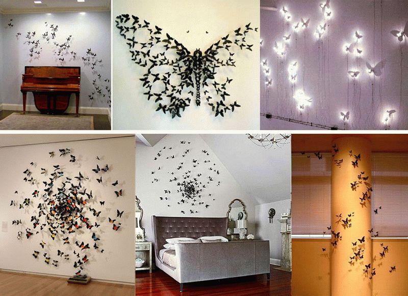 Декоративный декор для стен в виде бабочек