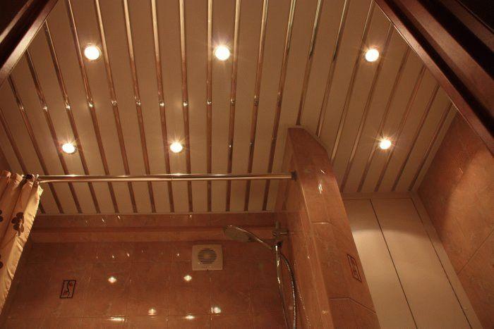 Реечный потолок - идеальный вариант для влажных помещений
