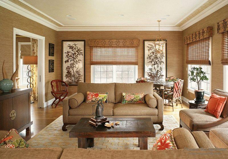 Бамбуковые обои в интерьере дома