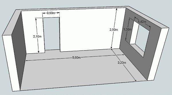 Чтобы рассчитать площадь стен более точно, нужно учитывать оконные и дверные проемы, которые вычисляются из общей квадратуры