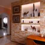 Декоративные ниши в стене: как сделать и оформить (фото)