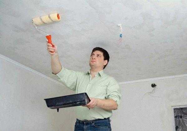 Грунтовка потолка под водоэмульсионную краску