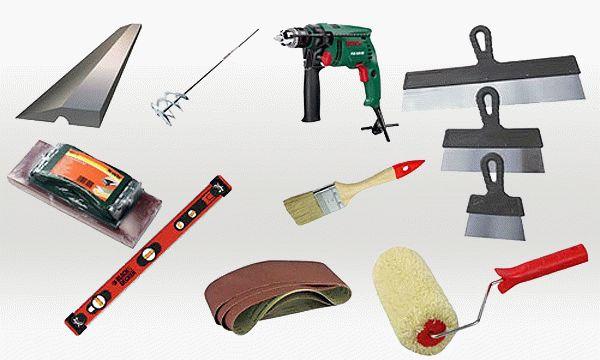 Инструменты, которые потребуются для работ с декоративной штукатуркой