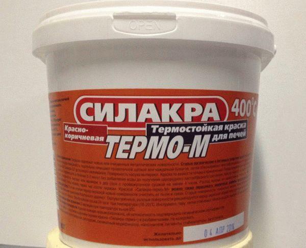 Термостойкая краска может применяться для окрашивания как металлической печи, так и печки из кирпича
