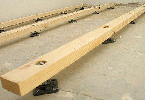 Деревянный пол по бетону