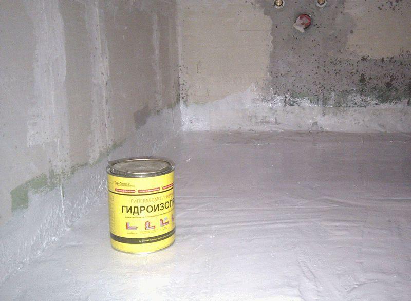 Гидроизоляция поверх стяжки цементно-полимерными материалами