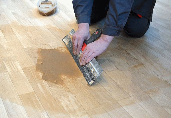 Шпатлевка для деревянного пола