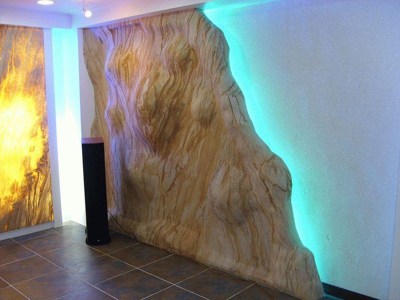 Полное повторение рельефа декорируемой гибкими плитами стены требуют тщательной подготовки ее поверхности