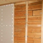 Обшивка стен гипсокартоном в деревянном доме