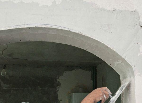 Шпаклевка гипсокартонной арки
