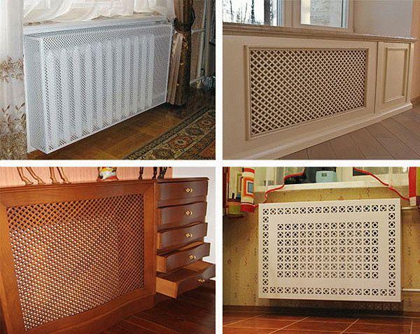 Варианты оформления радиатора отопления