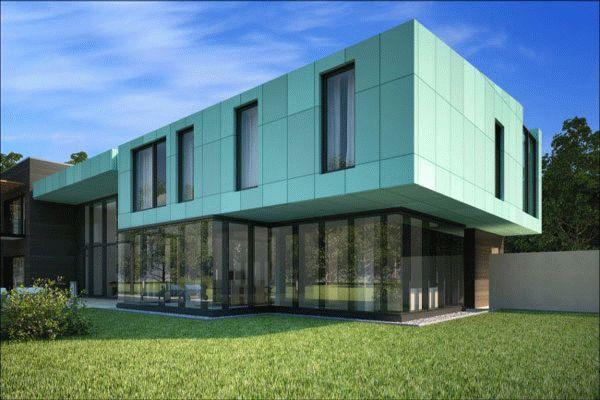 Фасад из композитных панелей