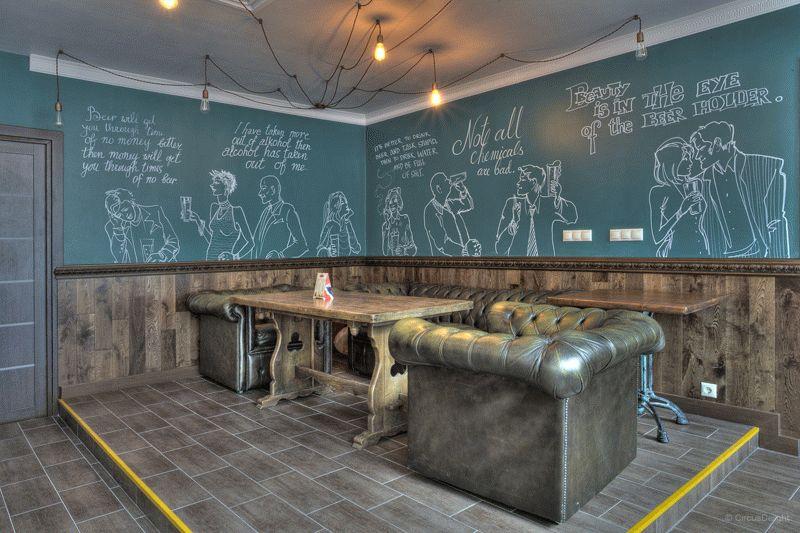 Грифельные краски нашли свое применение не только в школьных кабинета, но и квартирах, кафе и других публичных заведениях