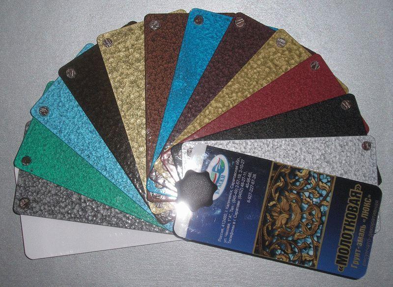 Цветовая палитра молотковых красок