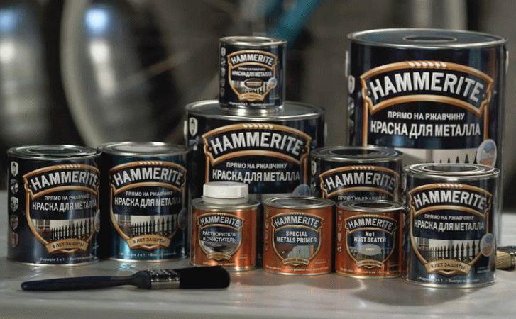 Молотковая краска от английского производителя - Hammerite