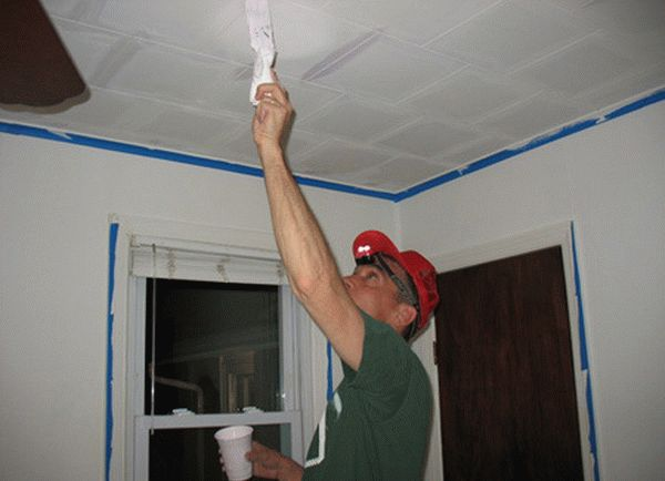 Подготовка пенопластового потолка к покраске