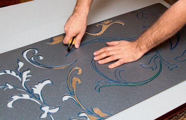Создание трафарета для декоративной штукатурки