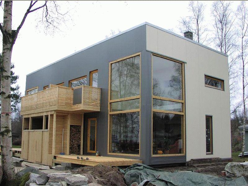 Отделка дома композитными панелями