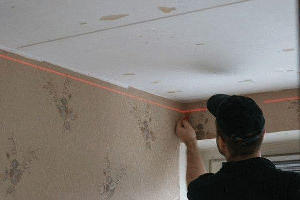 Измерение перепада высот потолочной поверхности