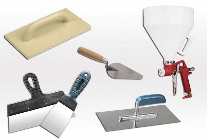 Инструменты, применяемые для нанесения жидких обоев