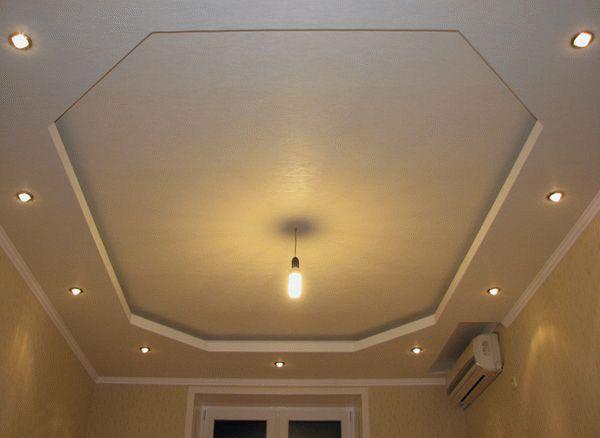 Потолок из гипсокартона своими руками