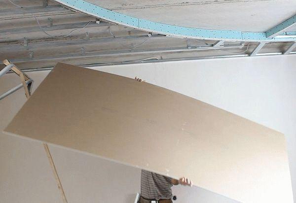 Создание потолка из гипсокартона