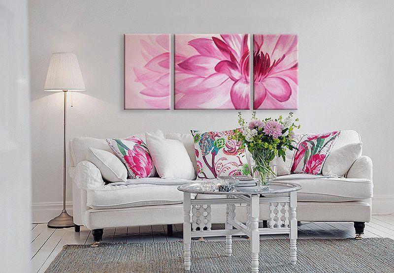 Модульные картины из ткани, изготовленные своими руками, станут прекрасным украшением дома