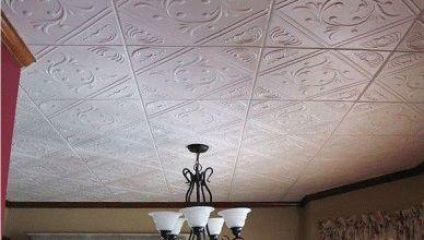 Плитка из пенопласта на потолке