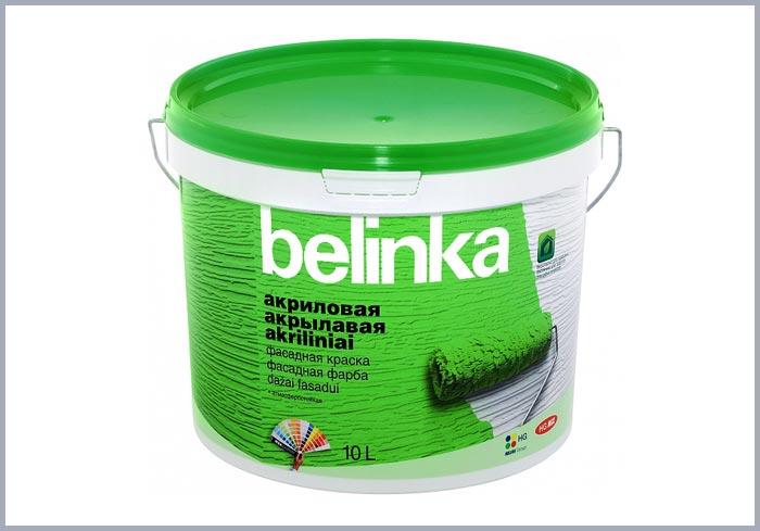 Акриловая фасадная краска Belinka